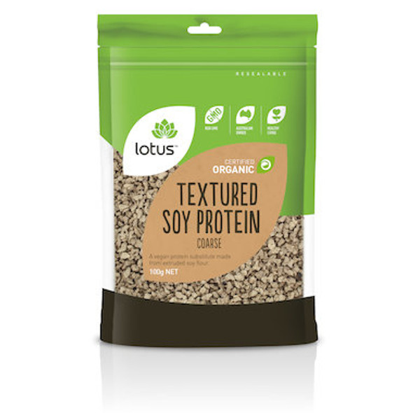 Lotus Textured Soy Protein Coarse Organic 100g