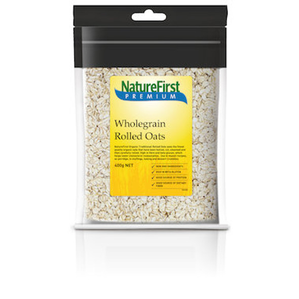 Nature First Oats Rolled Wholegrain 400g