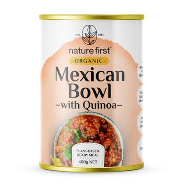 Nature First Plant Based Mexican Bowl With Quinoa Organic 400g (Carton of 6)