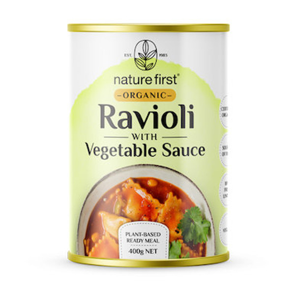 Nature First Plant Based Ravioli With Vegetable Sauce Organic 400g (Carton of 6)