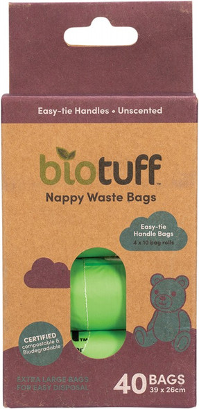 Biotuff Nappy Waste Bags Refill 40-Bags