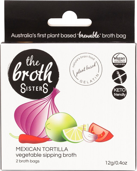 The Broth Sisters Vegetable Sipping Mexican Tortilla 2-Broth Bags
