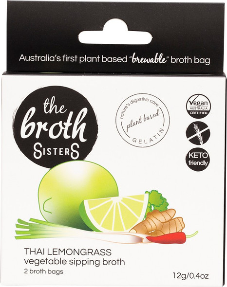 The Broth Sisters Vegetable Sipping Thai Lemongrass 2-Broth Bags