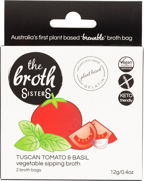 The Broth Sisters Vegetable Sipping Tuscan Tomato & Basil 2-Broth Bags