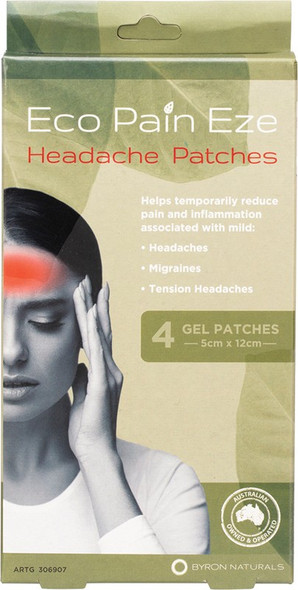 Byron Naturals Eco Pain Headache Gel Patches 4-Pack