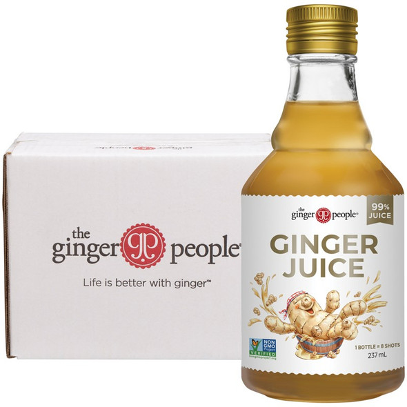 The Ginger People Ginger Juice 99% Juice 237ml (Carton of 6)