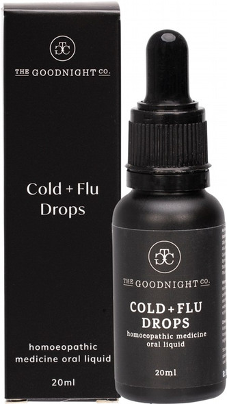 The Goodnight Co. Homoeopathic Medicine Oral Liquid Cold + Flu Drops 20ml