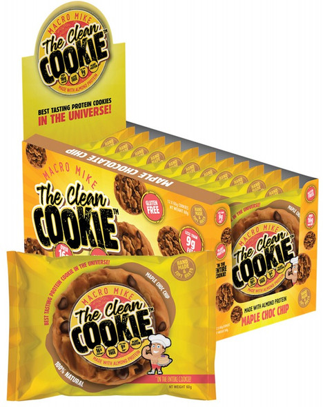 Macro Mike The Clean Cookie Maple Choc Chip 12-Pack 720g