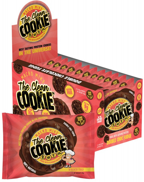 Macro Mike The Clean Cookie Double Choc Fudge 12-Pack 720g