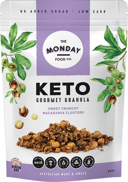 The Monday Food Co. Keto Gourmet Granola Sweet Crunchy Macadamia Clusters 800g