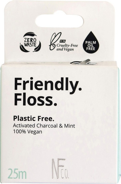 Nfco. Friendly Floss (Dental Floss) Activated Charcoal & Mint