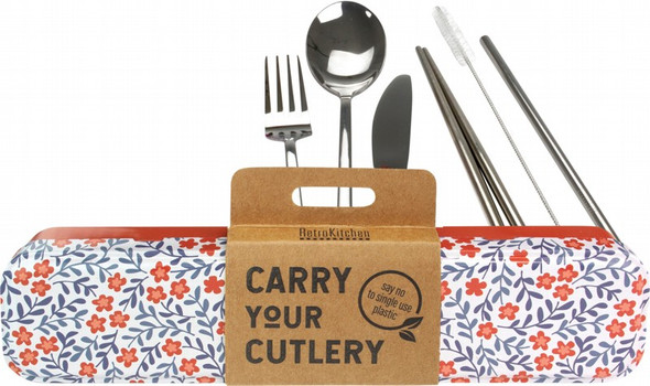 Retrokitchen Carry Your Cutlery - Blossom Stainless Steel Cutlery Set