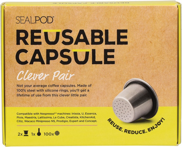 Sealpod Reusable Coffee Capsule Clever Pair With 100 Lids