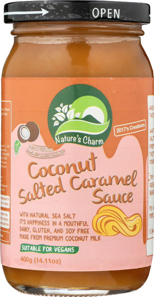 Nature's Charm Coconut Salted Caramel Sauce 400g
