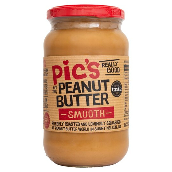 Pic's Peanut Butter Smooth 380g (Carton of 8)