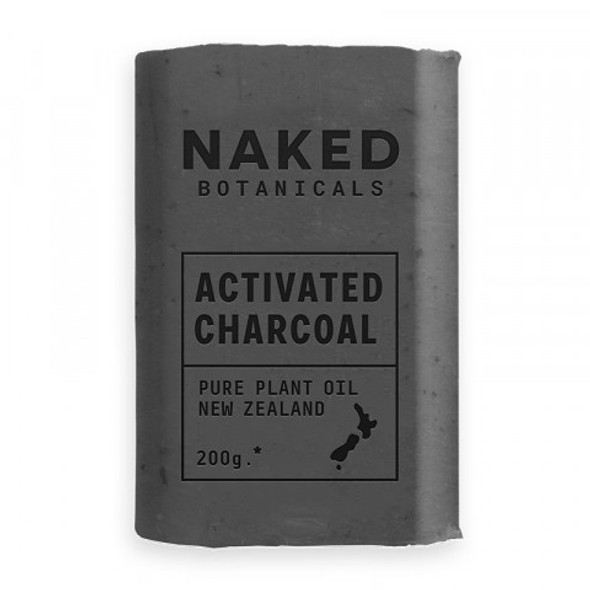 Naked Botanicals Soap Activated Charcoal 200g (Carton of 18)