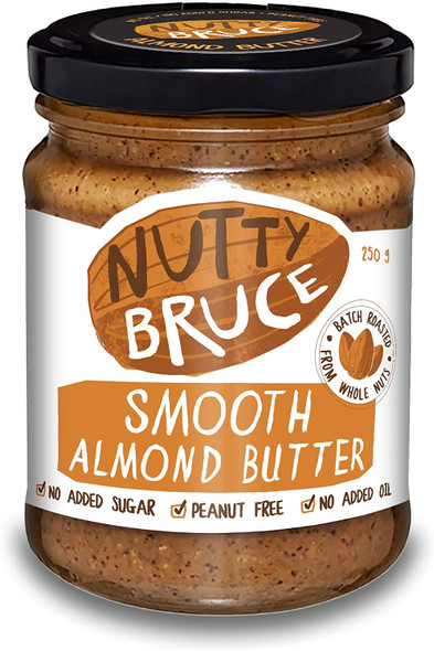 Nutty Bruce Almond Butter Spreads Smooth 250g (Carton of 6)