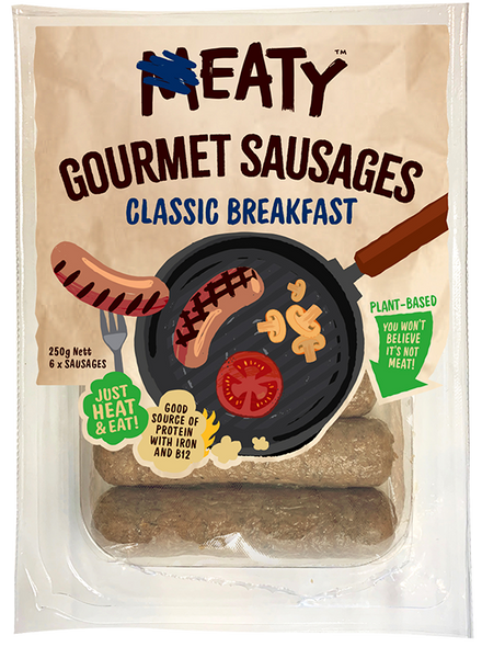 Eaty Sausages Classic Breakfast 250g (Carton of 8)