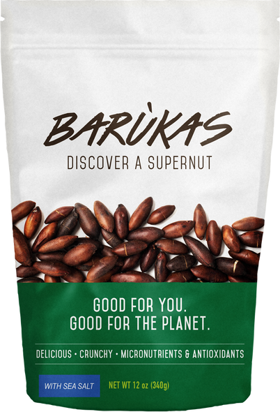 Barùkas Nuts Salted 340g (Carton of 4)