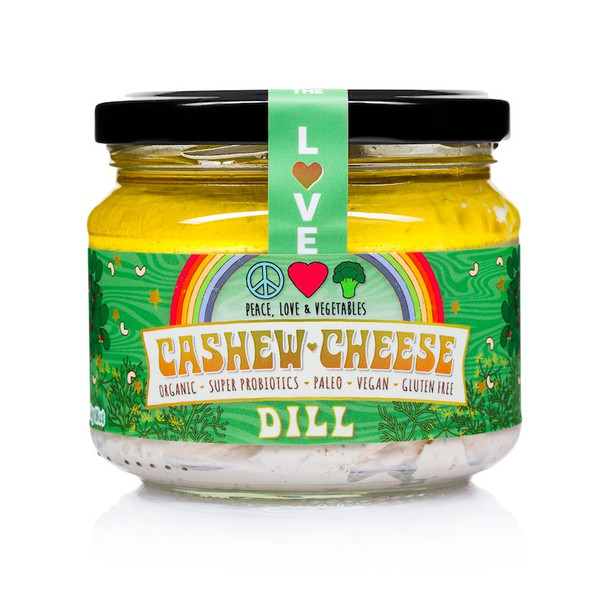 Peace, Love & Vegetables Dill Cashew Cheese 280g (Carton of 6)