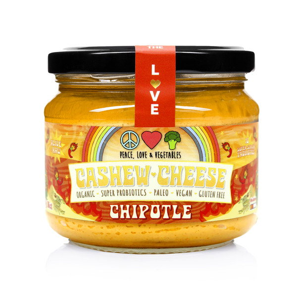 Peace, Love & Vegetables Chipotle Cashew Cheese 280g (Carton of 6)