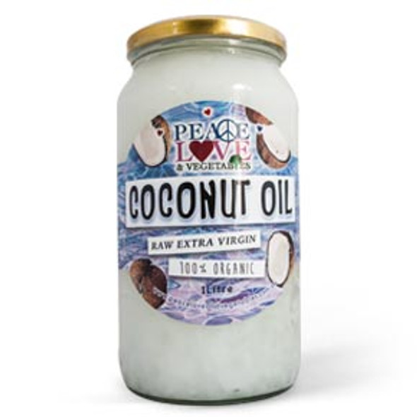 Peace, Love & Vegetables Coconut Oil (Dry Product) 1L (Carton of 4)