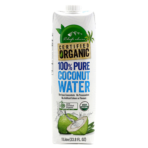Chefs Choice Organic Coconut Water 1L (Carton of 8)