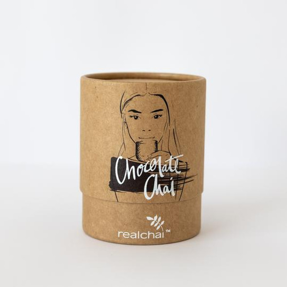 Realchai Chocolate Chai Canister 100g (Carton of 6)