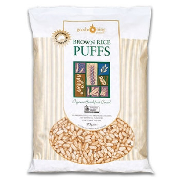 Good Morning Cereals Organic Puffed Brown Rice 175g x 6