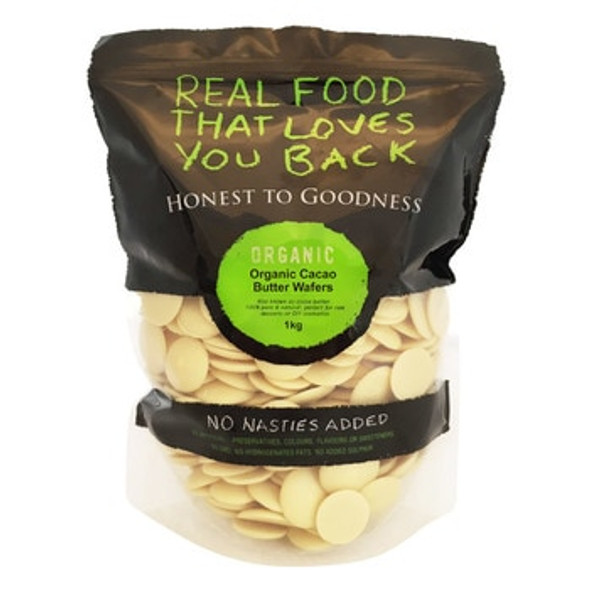 Honest to Goodness Organic Cacao Butter Wafers 1Kg x 6 (Pre-Order Item)