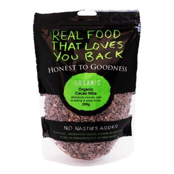 Honest to Goodness Organic Cacao Nibs 200g x 6 (Pre-Order Item)