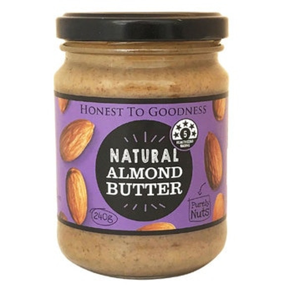 Honest to Goodness Almond Butter 240g (Carton of 6) (Pre-Order Item)