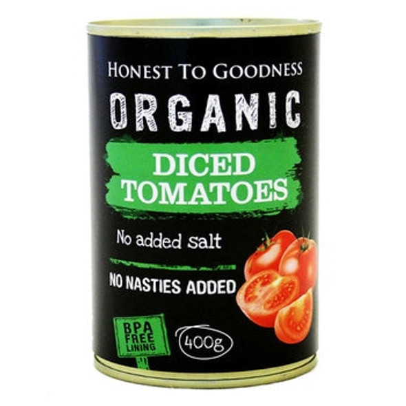 Honest to Goodness Organic Diced Tomatoes 400g  x 6