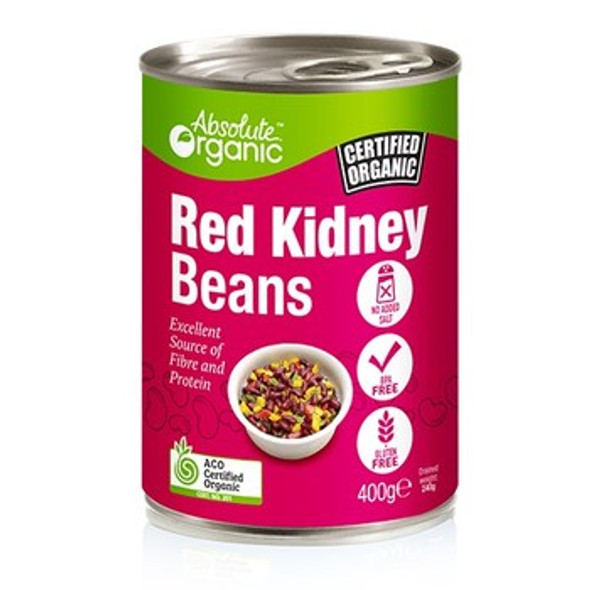 Absolute Organic Red Kidney Beans (Tin) 400g x 12