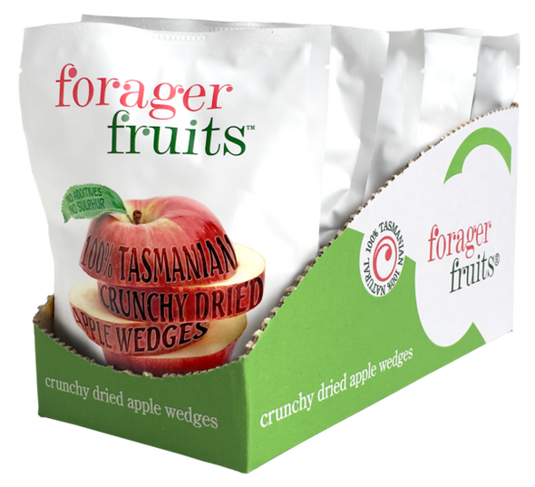 The Forager Food Co. Freeze Dried Apple Wedges 20g (Carton of 6)