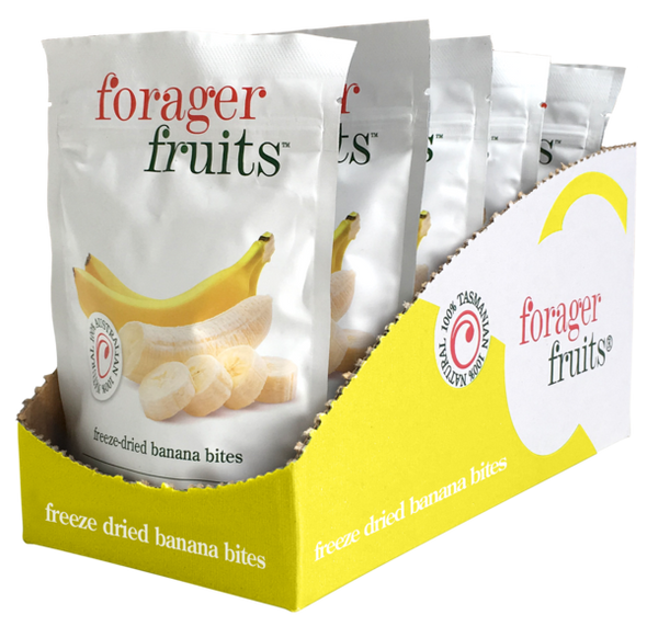 The Forager Food Co. Freeze Dried Banana Bites 15g (Carton of 8)