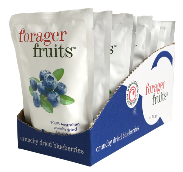 The Forager Food Co. Freeze Dried Blueberries 15g (Carton of 8)
