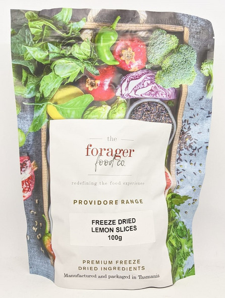 The Forager Food Co. Freeze Dried Lemon Slices 100g