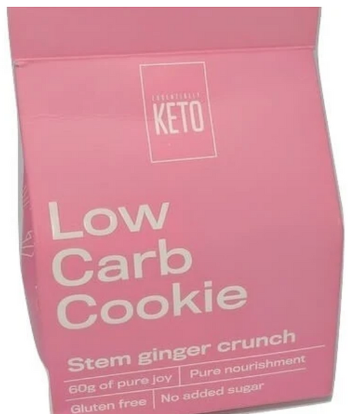 Essentially Keto Low Carb Cookie Stem Ginger Crunch 60g x 6 (1 Box)