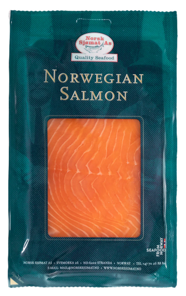 Norsk Sjomat As Norweigan Smoked Salmon Nitrate Free 100g x 6