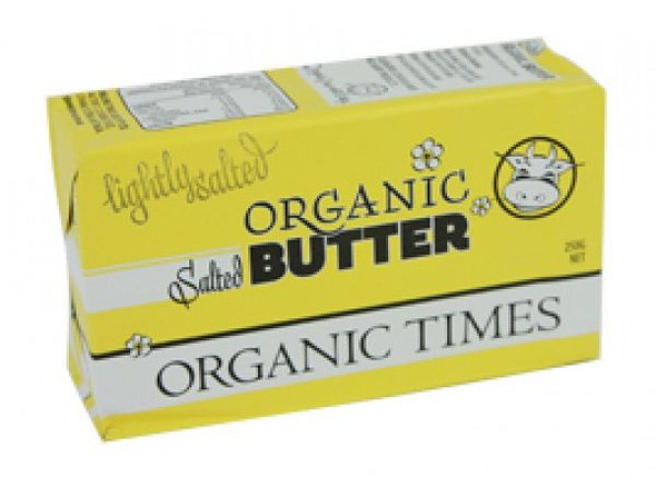 Organic Times Butter Salted 250g