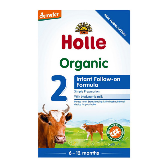 Holle Organic Cow Milk Infant Follow-On Formula 2 with DHA 600g x 3 Units