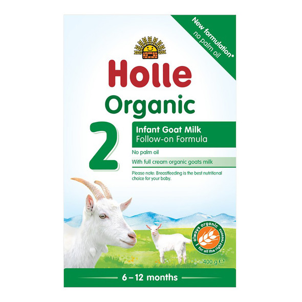 Holle Organic Goat Milk Infant Follow-On Formula 2 with DHA 400g x 6 Units