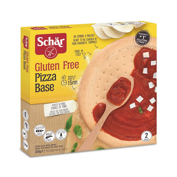 Schar Pizza Base 150g (2 Bases) x 8 Packets (Back in Stock 21/05/2021)