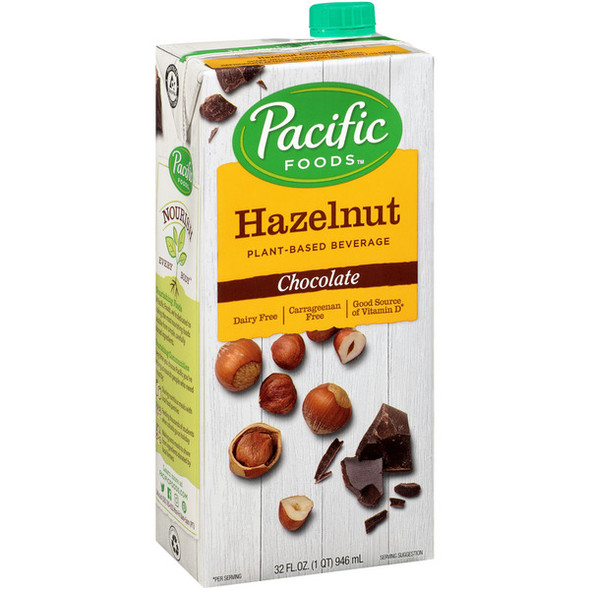 Pacific Foods Natural Hazelnut-Chocolate Drink 946ml x 6 Units