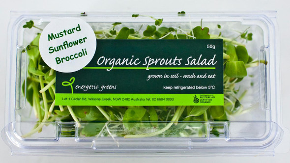 Salad Sprouts Organic Punnet 50g Limited (Energetic)
