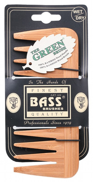 Bass Brushes Bamboo Wood Tortoise Comb Medium Wide Tooth
