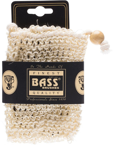 Bass Body Care Sisal Soap Holder Pouch With Drawstring, Firm