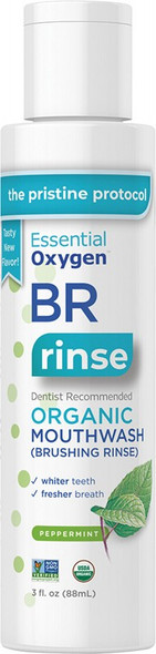 Essential Oxygen Toothpaste/Mouthwash Brushing Rinse Peppermint 88ml