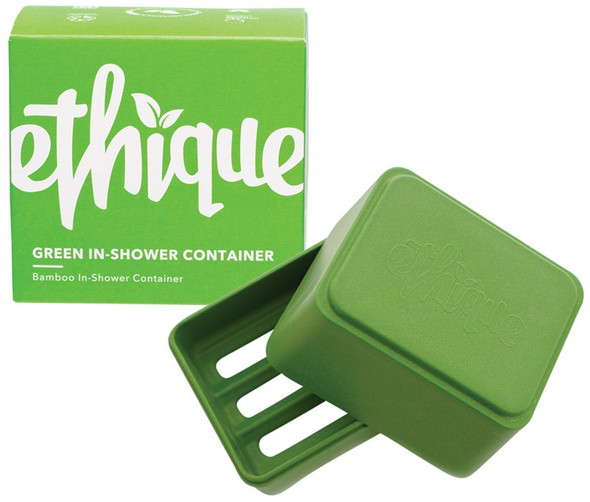 Ethique Bamboo & Cornstarch Shower Container Green